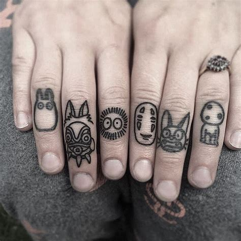 this is so awesome ghibli knuckletattoos by winkevans