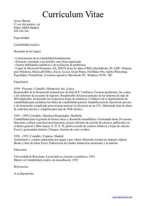 Plantillas De Curriculum Vitae Normal Curriculum Vitae Normal