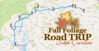 carolina fall foliage map take this fall foliage road trip in south carolina