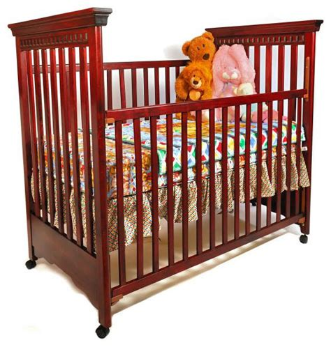 Dark Cherry Wooden Crib Photograph Hardwood Crib Photo Wooden Baby Cribs