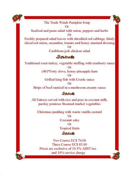 3 course dinner menu bay house function menu
