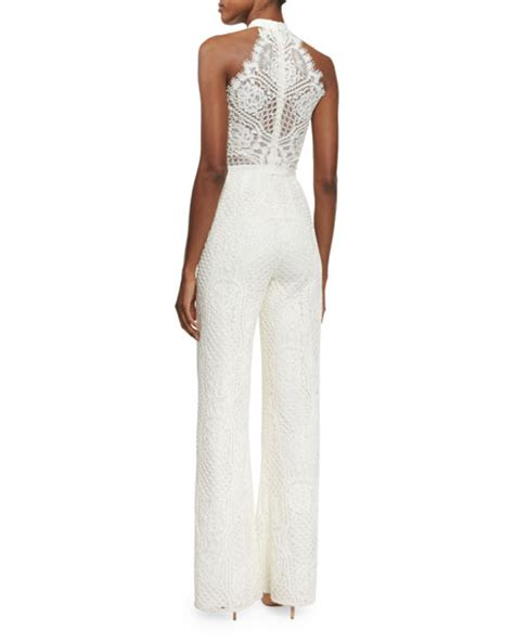 Lace Jumpsuit Original maylina sleeveless grecian lace jumpsuit ivory neiman