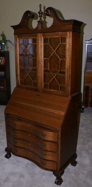 Chippendale Mahogany Secretary Desk With Hutch Mahogany Antique Desk With Hutch