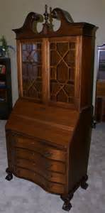 Antique Small Secretary Desk With Hutch Chippendale Mahogany Secretary Desk With Hutch Mahogany