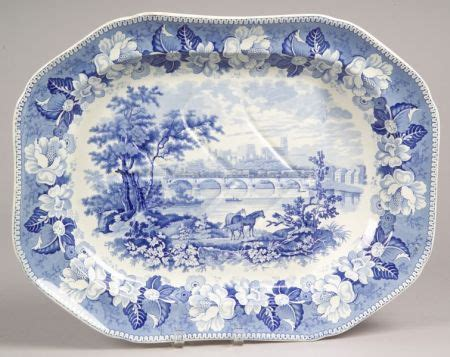 blue and white decorated tree rogers blue and white transfer decorated scenic