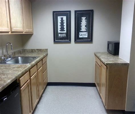 Giallo Granite Formica Countertop by Merrill Lynch Building Breakroom Cabinets Kitchen