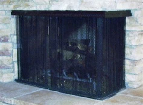 custom fireplace curtain hanging screen 16 northshore fireplace