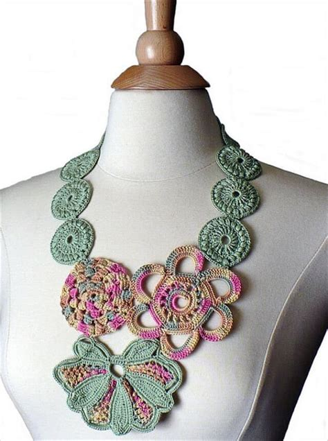 how to make crochet jewelry with 16 simple crochet necklace ideas diy to make