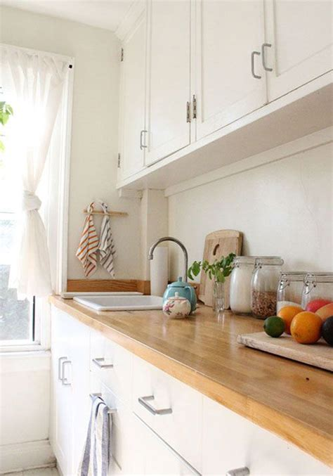 White Wood Countertops by White Kitchen Countertop Wooden