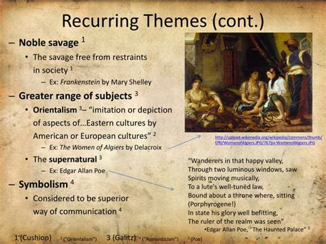 Recurring Theme Definition Literature | ppt ch 23 romantic art and literature powerpoint