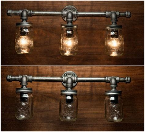 jar light fixture industrial light light rustic