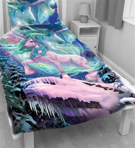 unicorn bedding the aurora unicorn duvet cover single bed set by david