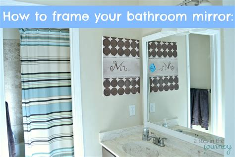 how to add a frame to a bathroom mirror how to frame your bathroom mirror