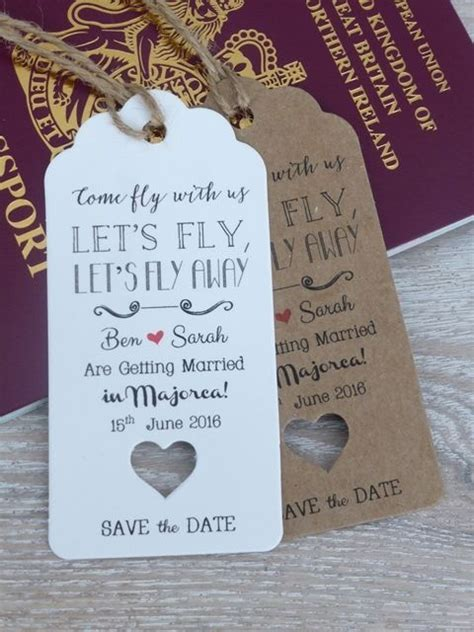evening wedding invitations married abroad wedding abroad destination wedding save the date invitation lets fly wedding abroad rsvp