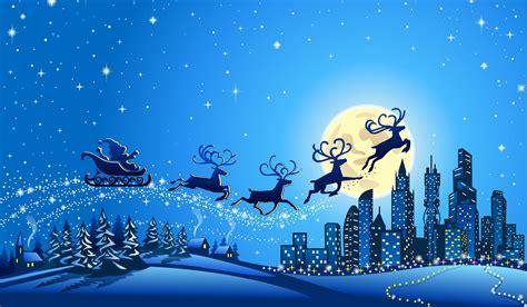 wallpaper reindeer chariot city santa sleigh santa claus  celebrations christmas