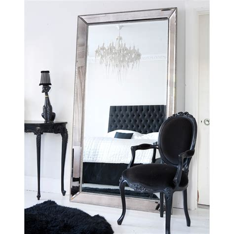 high quality silver full length cheval mirror humble home where to put mirror in bedroom gray headboard and gray
