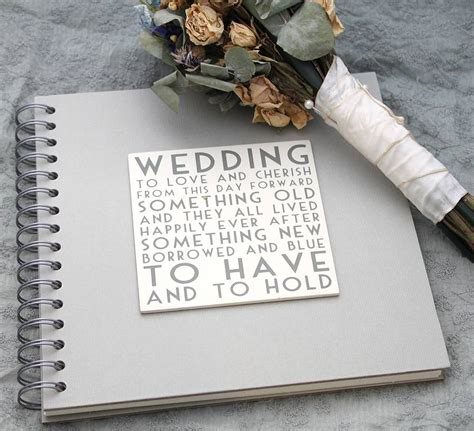 Wedding Book by Wedding Album Memory Book By Posh Totty Designs Interiors