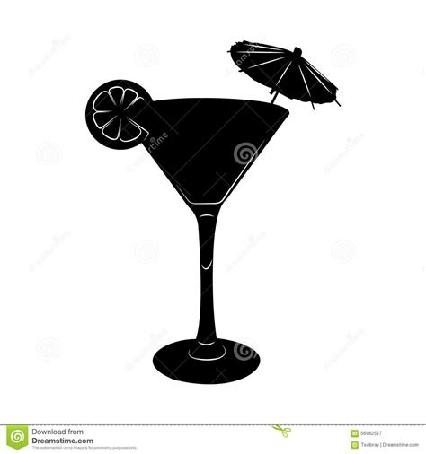 umbrella drink svg illustration en verre de cocktail de avec le