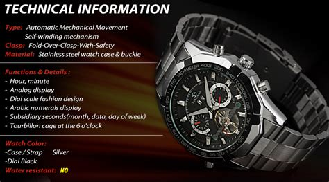 Jam Tangan Black Channel ess jam tangan mechanical wm303 black