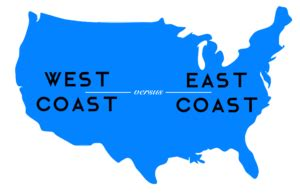 backpacking in the usa east coast vs west coast images west coast clipart clipground