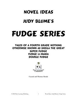 Novel Ideas: Judy Blume's Fudge Series by New Learning