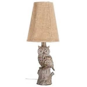 lights hobby lobby whitewash owl mini l with burlap shade hobby lobby