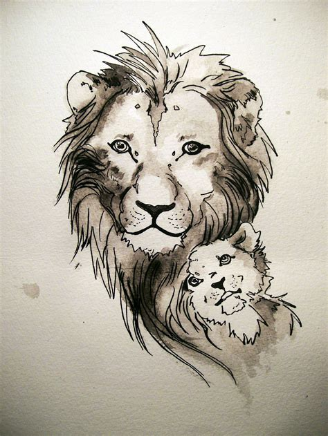 lion and cub tattoo cub tattoos cool tattoos bonbaden