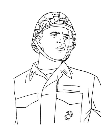 Army Coloring Pages To Print Coloring Home Marine Coloring Pages