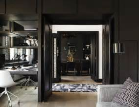 home interior accents impressive black interior design with gold and orange accents digsdigs