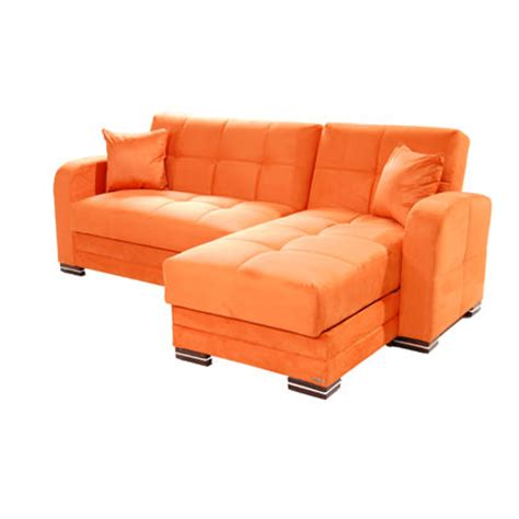 sofa orange kubo rainbow orange sectional sofa by sunset