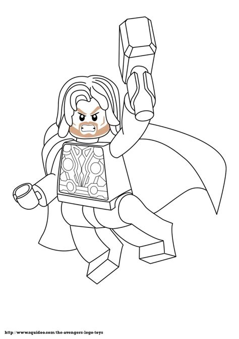 Lego Marvel Coloring Pages To Print | free lego marvel superheroes thor coloring page printable