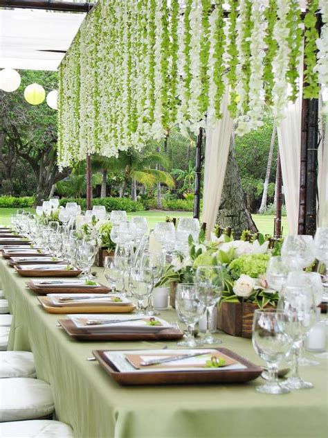 picture of gorgeous hanging flowers decor ideas overhead at your reception 2