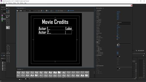 Credit Template Premiere 100 Credits Template Trailer Credits Template Eliolera Trailer Credits