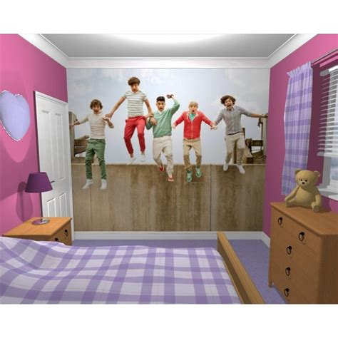 one direction room wallpaper wall mural 1d one direction stylish bedroom themed design