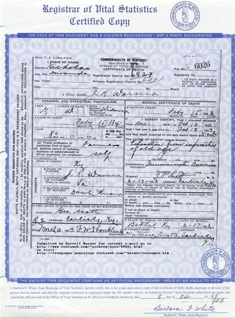 Colorado Birth Records Free Kentucky State Birth Certificate Choice Image Birth