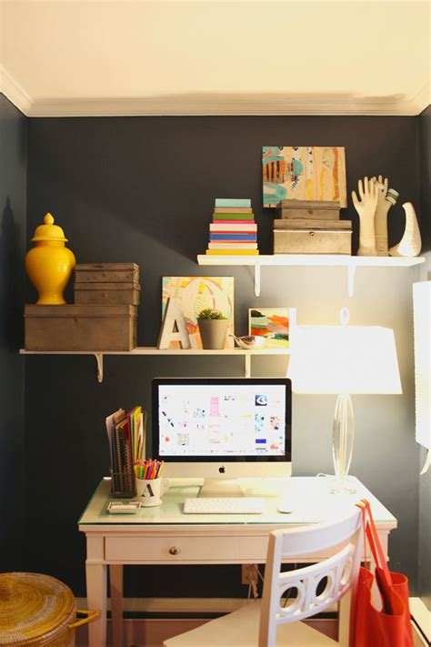25 best ideas about shelves above desk on