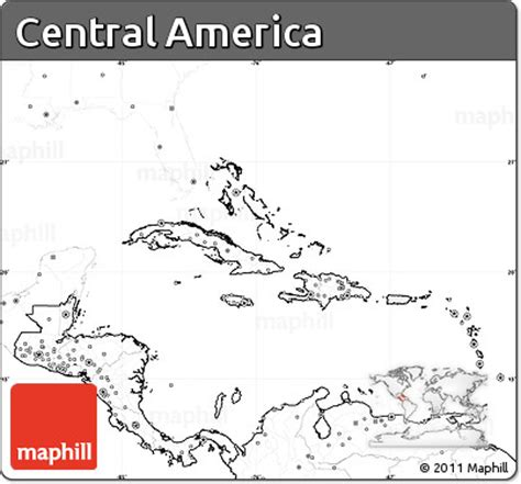 america map no labels free blank simple map of central america no labels