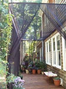 deck awnings with mosquito netting deck insect screens deck privacy screens