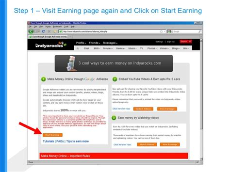 adsense eligibility earn via google adsense on indyarocks com