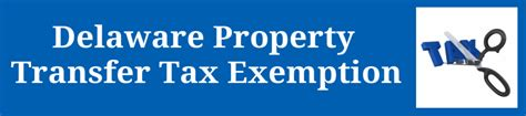 delaware property transfer tax exemption for time