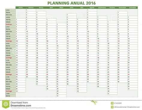 Kalender 2016 Planer Annual Planner 2016 Indd Stock Vector Image