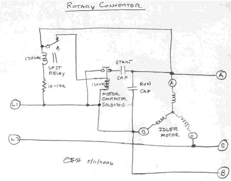 single phase to three phase converter circuit diagram diagram phase converters rotary converter schematic 3 ac