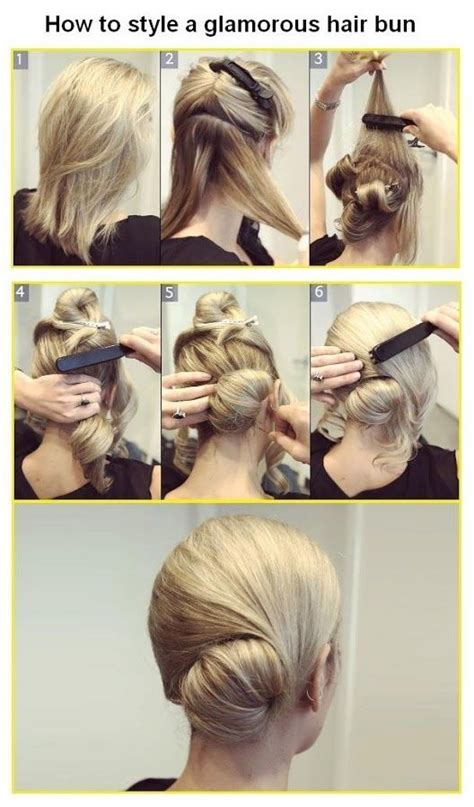 diy hairstyles bun diy glamorous hair bun pictures photos and images for