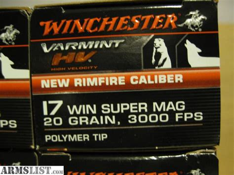 17 winchester super mag able ammo armslist for sale 17 wsm or 17 winchester super mag