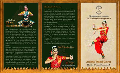 Bharatanatyam Arangetram Tri Fold Brochure Outside By Arangetram Invitation Templates