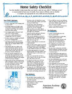 home safety checklist home safety checklist 100 pad aap