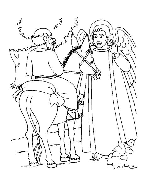 balaam bible coloring pages