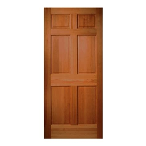 Solid Wood Exterior Door Slab Shop Reliabilt 6 Panel Solid Wood Hem Fir Unfinished Slab Entry Door Common 32 In X 80 In