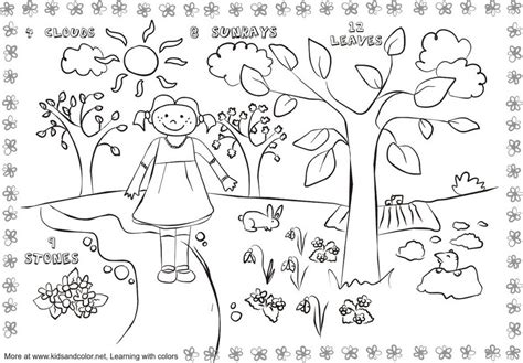 spring coloring pages math free coloring pages of spring math addition