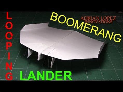 How To Make A Paper Boomerang That Comes Back - origami boomerang airplane 부메랑